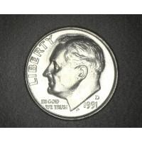1991-D ROOSEVELT DIME 10c MS65