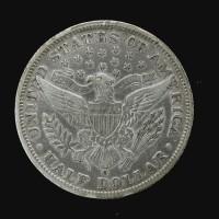 1893-O BARBER HALF DOLLAR 50c EF40
