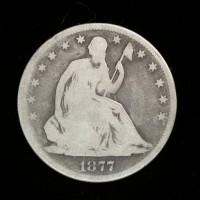 1877-S Ty'1 Rev LIBERTY SEATED HALF DOLLAR 50c G4