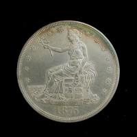 1875-CC TRADE DOLLAR $1 AU58