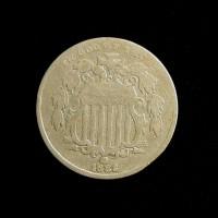 1882 Filled2 SHIELD NICKEL 5c (Nickel) F18