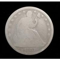 1876 Ty'2 Rev LIBERTY SEATED HALF DOLLAR 50c G4
