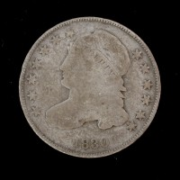 1830 CAPPED BUST DIME 10c VG8