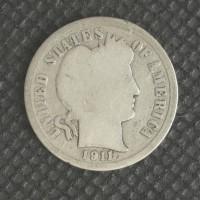 1911 BARBER DIME 10c G4