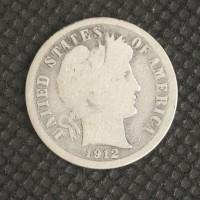 1912-D BARBER DIME 10c G4