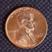 1966 LINCOLN MEMORIAL CENT 1c MS64 RD