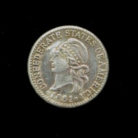 CONFEDERATE STATES OF AMERICA, 1861 1/10 (10 Cents) EF40