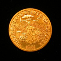 CONFEDERATE STATES OF AMERICA, 1861 $5 MS64