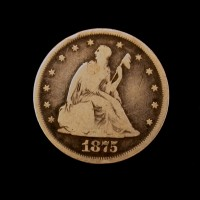 1875 LIBERTY SEATED TWENTY CENT 20c VG8