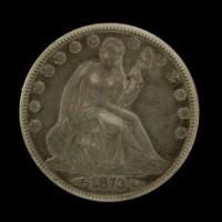 1873 Arr LIBERTY SEATED HALF DOLLAR 50c EF40