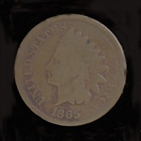 1865 Pl5 INDIAN CENT 1c G4