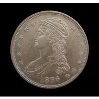 1836 Reeded CAPPED BUST HALF DOLLAR 50c AU50