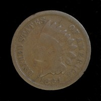 1864 BR INDIAN CENT 1c G4