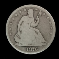 1876-S Ty'1 Rev LIBERTY SEATED HALF DOLLAR 50c G4