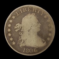 1806 DRAPED BUST QUARTER DOLLAR 25c G6