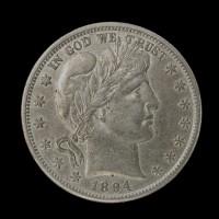 1894-S BARBER HALF DOLLAR 50c AU50