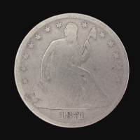1871-S LIBERTY SEATED HALF DOLLAR 50c G4