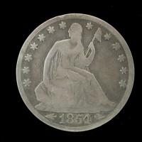 1854-O LIBERTY SEATED HALF DOLLAR 50c G6