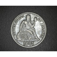 1887-S LgS LIBERTY SEATED DIME 10c VF20