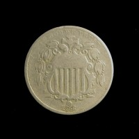 1868 Rev of 1868 SHIELD NICKEL 5c (Nickel) F12