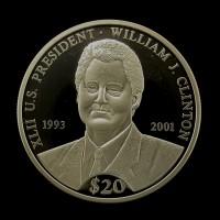 LIBERIA, 2000 $20 PF65+ DCam