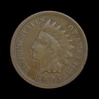1905 INDIAN CENT 1c EF40