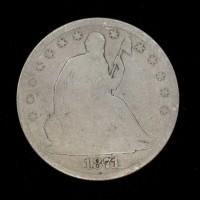 1871-S LIBERTY SEATED HALF DOLLAR 50c VG8