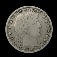 1911 BARBER HALF DOLLAR 50c F12