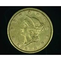 1853 LIBERTY GOLD DOLLAR TY'1 $1 AU50