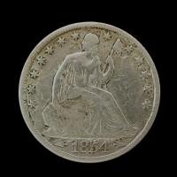 1854-O LIBERTY SEATED HALF DOLLAR 50c F12