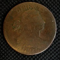 1803 SD SF DRAPED BUST LARGE CENT 1c AG3