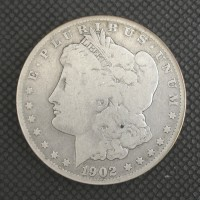 1902-S MORGAN DOLLAR $1 VG10