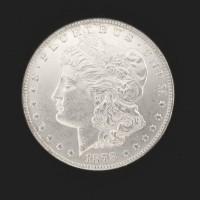 1878 7TF MORGAN DOLLAR $1 MS62