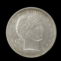 1902 BARBER HALF DOLLAR 50c AU50