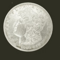 1889-S MORGAN DOLLAR $1 AU50