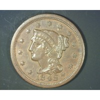 1849 LIBERTY HEAD LARGE CENT 1c VF30
