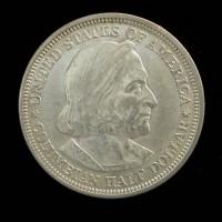 1893 Columbian 1/2$ AU58