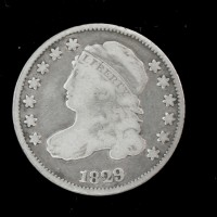 1829 CAPPED BUST DIME 10c VG10