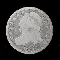 1837 CAPPED BUST DIME 10c G4