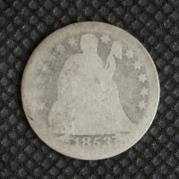 1853 Arr LIBERTY SEATED DIME 10c AG3