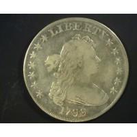 1799 DRAPED BUST/HERALDIC DOLLAR $1 VF20