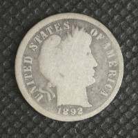 1892 BARBER DIME 10c G4
