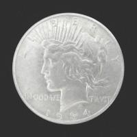 1934-S PEACE DOLLAR $1 AU58
