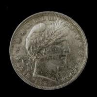 1892 BARBER HALF DOLLAR 50c AU58