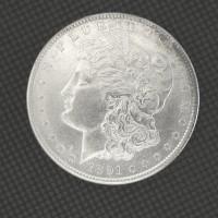 1891-S MORGAN DOLLAR $1 AU58