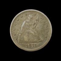 1875-CC LIBERTY SEATED TWENTY CENT 20c VF35