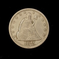 1875-CC LIBERTY SEATED TWENTY CENT 20c EF48