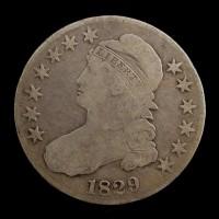 1826 CAPPED BUST HALF DOLLAR 50c VF30