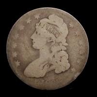 1836 CAPPED BUST HALF DOLLAR 50c AG3