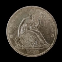 1870-S LIBERTY SEATED HALF DOLLAR 50c AU58
